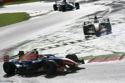 Giorgio Pantano leads Lucas di Grassi and Pastor Maldonado