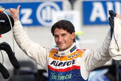 Giorgio Pantano celebrates winning the 2008 GP2 Series Title