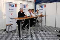 Press conference for the hybrid Peugeot 908 HDi FAP, the Peugeot 908 HY