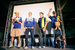 Valentino Rossi, Jorge Lorenzo, James Toseland and Colin Edwards make a public appearance