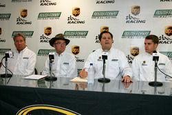Conférence de presse UPS/Roush Fenway Racing : Jimmy Fenning, Jack Roush, David Ragan et Ron Rogowsk