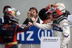 1. Sebastian Vettel mit Robert Kubica