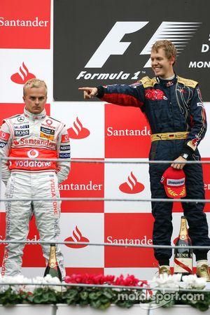 Podium: 1. Sebastian Vettel, 2. Heikki Kovalainen