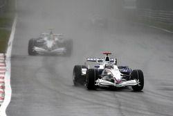 Nick Heidfeld, BMW Sauber F1 Team, F1.08 leads Robert Kubica, BMW Sauber F1 Team, F1.08