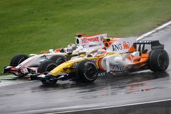 Nelson A. Piquet, Renault F1 Team et Adrian Sutil, Force India F1 Team