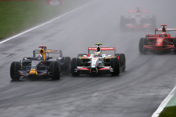 David Coulthard, Red Bull Racing et Giancarlo Fisichella, Force India F1 Team