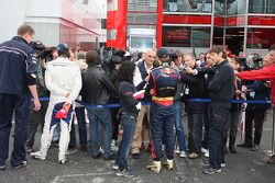Le vainqueur Sebastian Vettel en interview