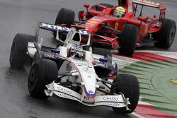 Nick Heidfeld, BMW Sauber F1 Team et Felipe Massa, Scuderia Ferrari