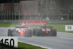 Giancarlo Fisichella, Force India F1 Team et Sébastien Bourdais, Scuderia Toro Rosso