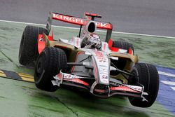 Adrian Sutil, Force India F1 Team, coupe la chicane
