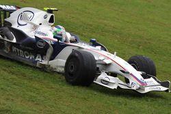 Robert Kubica, BMW Sauber F1 Team, F1.08 on the grass