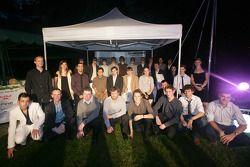 Photo de groupe des e-reporters finalistes 2008