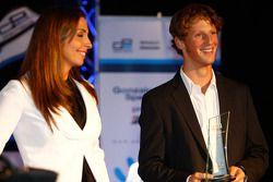 Romain Grosjean collects his Rookie of the year award