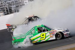 David Reutimann and Mike Skinner tangle up in turn four