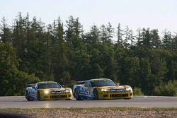 #6 Phoenix Racing Corvette Z06: Mike Hezemans, Fabrizio Gollin, #5 Phoenix Racing Corvette Z06: Marc