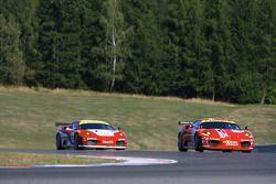 #50 AF Corse Ferrari F430: Toni Vilander, Gianmaria Bruni, #95 Advanced Engineering Ferrari F430: Matias Russo, Luis Perez Companc