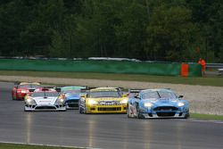 Start: #33 Jetalliance Racing Aston Martin DB9: Karl Wendlinger, Ryan Sharp leads #6 Phoenix Racing