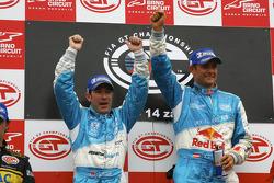 GT1 podium: class and overall winners Karl Wendlinger and Ryan Sharp