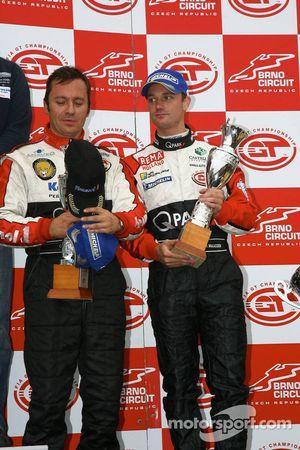 GT1 podium: third place Christophe Bouchut and Xavier Maassen