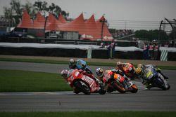 Casey Stoner, Nicky Hayden and Valentino Rossi