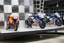The winning bikes of Valentino Rossi, Nicky Hayden and Jorge Lorenzo