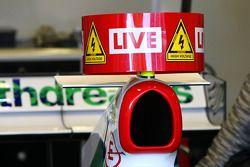 Le KERS sur les voitures Honda Racing F1 Team, à Jerez