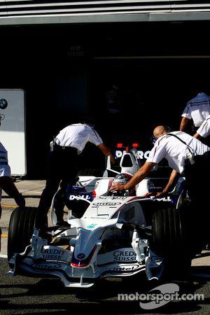 Marco Asmer, pilote d'essai, BMW Sauber F1 Team, F1.08