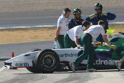 Le KERS sur les voitures Honda Racing F1 Team, RA108 à Jerez, Mike Conway, pilote d'essai