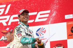 GT500 podium: third place Jyuichi Wakisaka