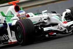 Alexander Wurz, pilote d'essai, Honda Racing F1 Team, RA108, Pink Tyre wall