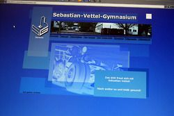 Sebastian Vettel's home town visit in Heppenheim, Germany: screen shot of the Starkenburg Gymnasium'