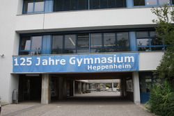Sebastian Vettel's home town visit in Heppenheim, Germany: the Starkenburg Gymnasium of Sebastian Ve