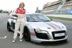 Maria de Villota poses with an Audi R8