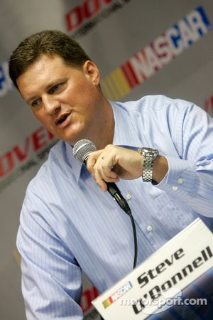Steve O'Donnell discuss NASCAR substance abuse policy for the 2009 season