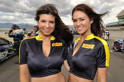 Two lovely Pirelli girls