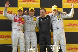 Podium: race winner Paul di Resta, second place Timo Scheider, third place Bernd Schneider