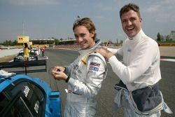 Mathias Lauda and Ralf Schumacher