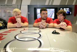 Les membres de l'équipe Audi Sport Team Abt Sportsline