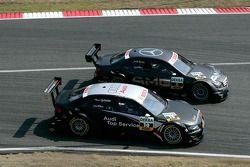 Paul di Resta, Team HWA AMG Mercedes, AMG Mercedes C-Klasse et Timo Scheider, Audi Sport Team Abt, A