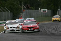 James Thompson, N. Technology, Honda Accord Euro R and Jorg Muller, BMW Team Germany, BMW 320si