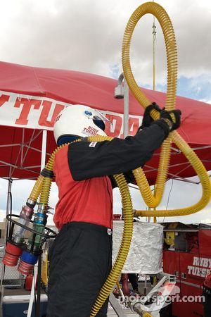 Alex Job Racing team member at work