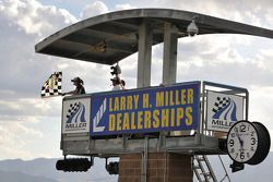 Checkered flag for #6 Michael Shank Racing Ford Riley: Ian James, Raphael Matos, John Pew