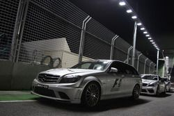 The FIA safety and Medical cars