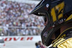 The Dewalt crew watces Matt Kenseth race