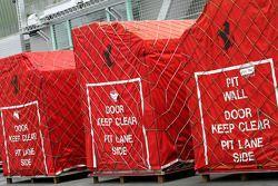 Caisses de transport de la Scuderia Ferrari
