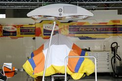 Le garage de Fernando Alonso, Renault F1 Team