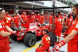 Entraînement à l'arrêt aux stands, Scuderia Ferrari