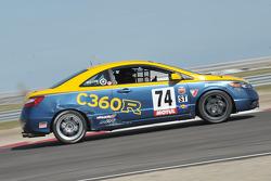 #74 Compass360 Racing Honda Civic SI: Christian Miller, Karl Thomson