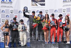 ST podium: class winners Eric Curran and Jamie Holtom, second place Ian Baas and Dion von Moltke, third place Kirk Spencer and Ashley McCalmont