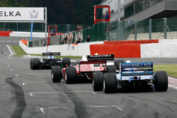 #8 Chris Woodhouse (GB) Woodhouse Bros., F1 Lola T90/50 Cosworth 3.5 V8, #11 Walter Colacino (I) Scuderia Grifo Corse, IRL G-Force Chevy 3.5 V8, #25 Karl-Heinz Becker (D) Becker Motorsport, WS Dallara Nissan 3.4 V6,and #13 Peter Seldon (GB) Serverwaregrou